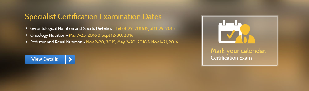 Specialist Certification Examination Dates